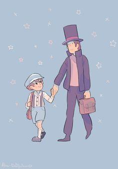 Luke and Layton by AkaDaifuku on DeviantArt