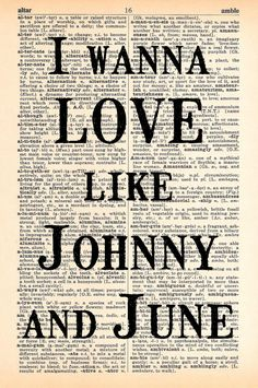 Johnny and June Dictionary Print  Upcycled by MapleTreeProductions, $8.00