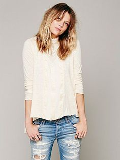 Free People FP X Gibson Long Sleeve Top