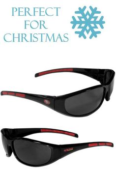 25208dc2616e These sporty looking San Francisco 49ers Wrap Sunglasses have the San  Francisco 49ers logo screen printed