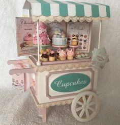 Carrito para la tienda de cupcakes