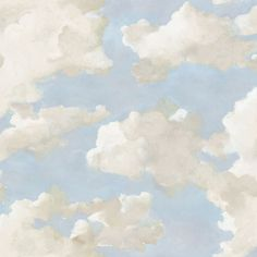York Wallcoverings Clouds and Canvas Blue Children and Nursery Peel and Stick Wallpaper PSW1079RL