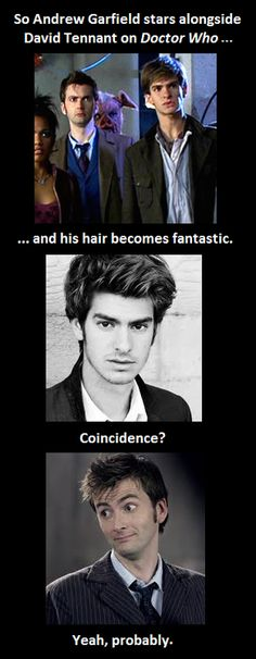 <3 David Tennant AND Andrew Garfield ahhh <3