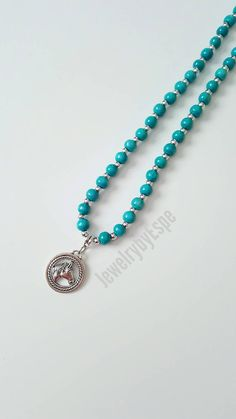 Hey, I found this really awesome Etsy listing at https://www.etsy.com/listing/493755214/silver-horse-necklace-turquoise-necklace