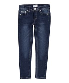 Look what I found on #zulily! Indigo Geometric Pocket Denim Jeans - Kids & Tween by miniMOCA #zulilyfinds