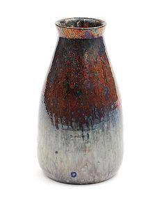 "Earthenware ""Berbas"" vase with Reflet Métallique glaze, executed by Porceleyne Fles, Delft / the Netherlands ca.1900"