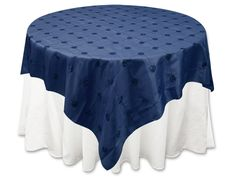 60 X 60 Satin Navy Blue Table Topper Overlay   Overlays, Satin And Navy Blue