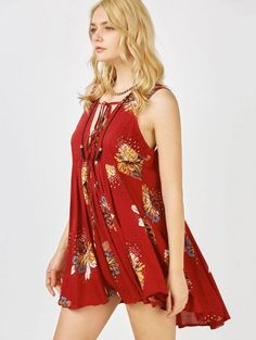 SHARE & Get it FREE | Floral Print Mini Plunge Sundress - BurgundyFor Fashion Lovers only:80,000+ Items • New Arrivals Daily Join Zaful: Get YOUR $50 NOW!