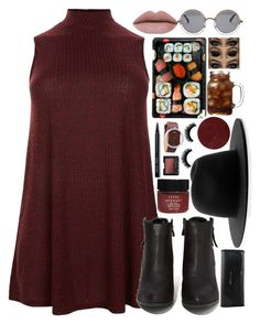 """Ready for Red"" by niamtz on Polyvore featuring Études, New Look, N.Y.L.A., Jura, The Row, Burberry, Bobbi Brown Cosmetics, NARS Cosmetics and Serge Normant"