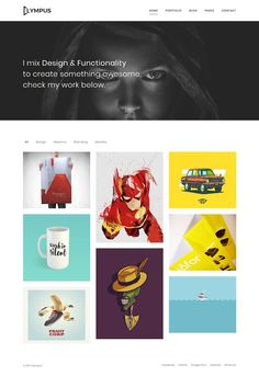 Olympus Minimal Portfolio by LionCoders on Web Themes, Website Themes, Business Brochure, Business Card Logo, Creative Sketches, Start Up Business, Paint Markers, Pencil Illustration, Watercolor And Ink