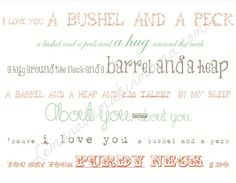 Bushel and a Peck print by Lemonademakinmama on Etsy, $20.00