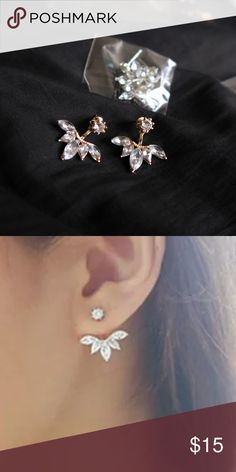 Jewel Earrings Available in Gold, Rose Gold & Silver Jewelry Earrings