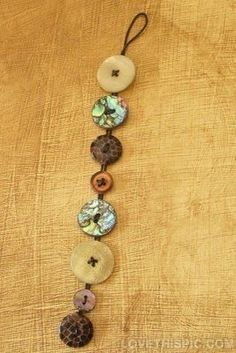 Button Bracelet band bracelet diy handmade buttons