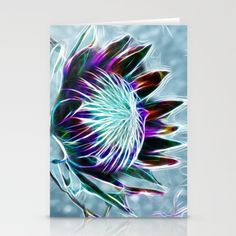 Moody Blues Stationery Cards by F Photography and Digital Art - $12.00