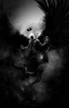 Dark engel story inspiration: random in 2019 dark fantasy art, fantasy art, Fantasy Art Men, Fantasy Warrior, Fantasy Artwork, Demon Artwork, Dark Angels, Angels And Demons, Arte Horror, Horror Art, Grim Reaper Art