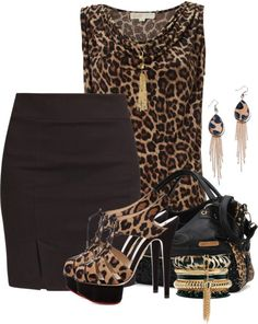 Stampa animalier come indossarla 50 outfits 250 - Stampa animalier: come indossarla 50 + outfits Estilo Fashion, Diva Fashion, Look Fashion, Trendy Fashion, Fashion Outfits, Womens Fashion, Leopard Outfits, Animal Print Outfits, Dressy Outfits