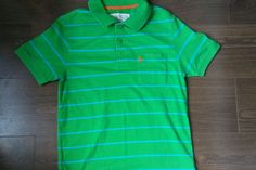 Mens jack wills polo shirt, Green Striped, size small.