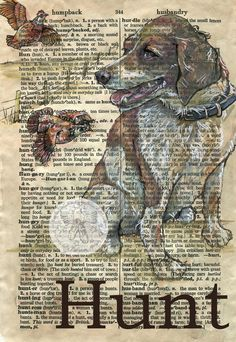 flying shoes art studio: GOING TO THE DOGS Book Page Art, Old Book Pages, Art Pages, Sheet Music Art, Newspaper Art, Retro Poster, Dictionary Art, Shoe Art, Vintage Diy