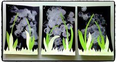 de jolis brins de muguets en tampon mousse et collage, bricolage 1er mai