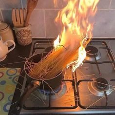 Me when I try to cook