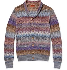 Missoni - Zig-Zag Crochet-Knit Shawl-Collar Cardigan | MR PORTER