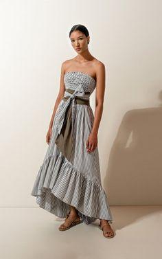 Caiman Belted Cotton Midi Dress By Andres Otalora   Moda Operandi