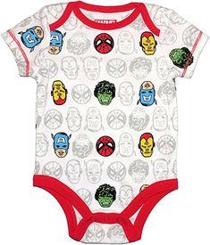 Amazon.com: Bentex Marvel Super Hero Baby Boys One Piece Snap Bodysuit (Newborn): Clothing