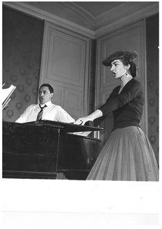 Maria Callas and Mario del Monaco in rehearsal for Norma at the Metropolitan Opera!