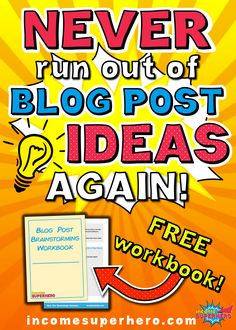 Never run out of blog post ideas again | Learn the 7 best ways to come up with blog post ideas | Click to download the FREE blog post brainstorming workbook to help guide you along Make Money Blogging, How To Make Money, Business Tips, Online Business, Creating Passive Income, Blog Images, Creating A Blog, Free Blog, Blogging For Beginners
