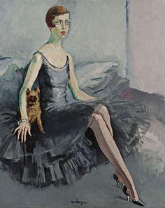 Kees van Dongen - Portrait de Mrs Jean McKelvie Sclater-Booth (1920)