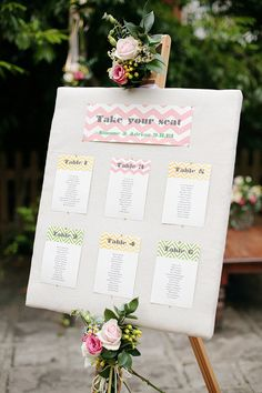 chevron wedding seating plan. #weddings #events #chevron
