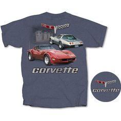 CORVETTE C1 T-SHIRT Official USA Licensed Product M L XL Chevrolet blau Chevy