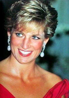 My pearl drop earrings?: Diana, Princess of Wales.