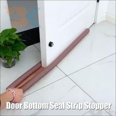 Home Projects, Projects To Try, Door Stopper, Draft Stopper, Diy Home Repair, Home Repairs, Useful Life Hacks, Home Hacks, Sleep Quality