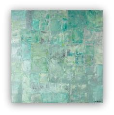 Abstract painting canvas large painting big painting green grey gray white contemporary painting minimalist painting modern painting square