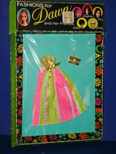Dawn Doll CLOAK AND SWAGGER Gown Fashion MIP! 1972 Topper Toys Hong Kong #TopperToys #FashionDoll