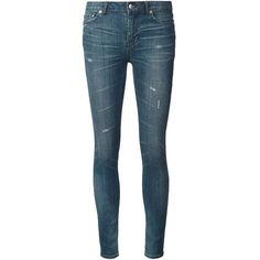 Blk Dnm Skinny Jeans ($215) ❤ liked on Polyvore featuring jeans, blue, skinny jeans, denim skinny jeans, blue skinny jeans, blk dnm jeans and blue jeans