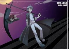 Stein and Spirit (Death Scythe) as DWMA students from Soul Eater