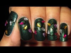 Christmas Lights Nail Art Tutorial