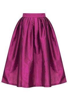 Tafetta Midi Skirt - TOPSHOP