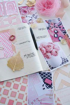 pink + navy + gold