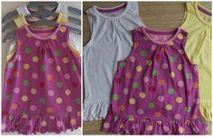 Ex TU 3 Pack Jersey vest top dress sleeveless spotty rara summer Sizes 2-3 yrs, 3-4yrs, 4-5yrs £6.29