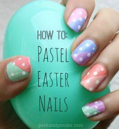 Inspiration on How to: Pastel Easter Nails by Ashley Freitas. Check out more DIY on Bellashoot. Pastel Nail Art, Nail Art Diy, Diy Nails, Love Nails, How To Do Nails, Pretty Nails, Gorgeous Nails, Spring Nails 2014, Summer Nails