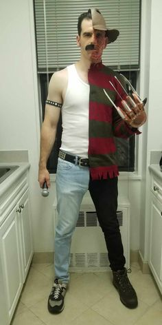 Post with 5096 votes and 95390 views. Tagged with diy, Halloween, freddie mercury, costume, freddy krueger; Shared by My Freddie Mercury/Freddy Krueger mashup costume Freddie Mercury, Justin Roiland, Funny Horror, Social Trends, Skyfall, Nightmare On Elm Street, Social Platform, Halloween Costumes, Halloween Couples