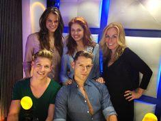 Post -interview photo - Henry Byalikov, Anna Trebunskaya, Kirstyn Burtt, Suri Serano, Jake DuPree