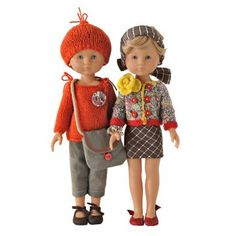 Poupées claire et marie en tenues tricot orange, multicolore, toile kaki et anciens lainages Doll Toys, Baby Dolls, Nancy Doll, Knit Crochet, Crochet Hats, Wellie Wishers, Lalaloopsy, Knitted Dolls, Little Darlings