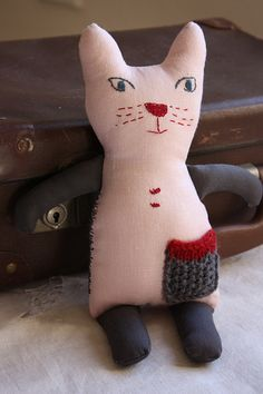 Pink Linen Kitty by Me and Tex