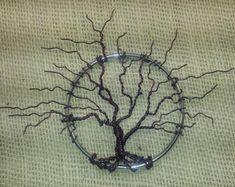 One Of A Kind Metal Tree Sculpture/Wall Hanging/Sun Catcher - Purple Wall Art - Leafless Tree