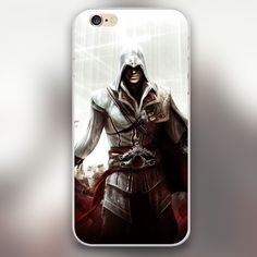 Assassin Creed game figure Cover case for iphone 4 4s 5 5s 5c 6 6s plus samsung galaxy S3 S4 mini S5 S6 Note 2 3 4   z2826