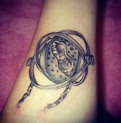 My own Harry Potter time turner tattoo. It overwhelms me when I see how so many others have potter tattoos aswell and to know that I'm not the only one that's now permanently obsessed :)
